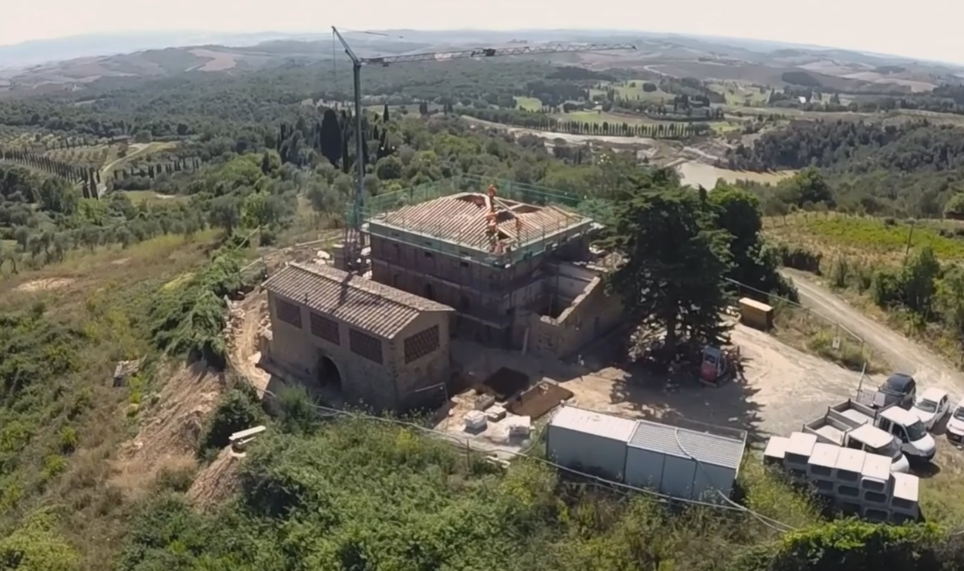 Nuovo intervento di ristrutturazione della Costruzioni Spagnoli S.p.A. in Chianti